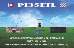 QSL kaart PI35ETL